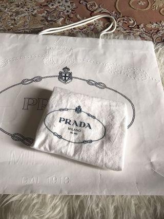 Prada paper bag & dust bag