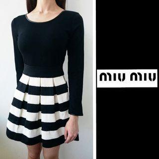 Black and White Miu-Miu Dress