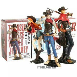 Action Figure LUFFY, NAMI, ZORO Cowboy Edition