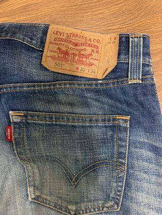 Levi's 501刷色牛仔褲