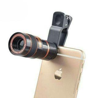 Lensa TELEZOOM 8x Jepit For All Type HP