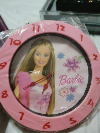 Clock pink barbie