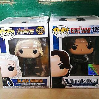Black Widow & Winter Soldier Funko Pop
