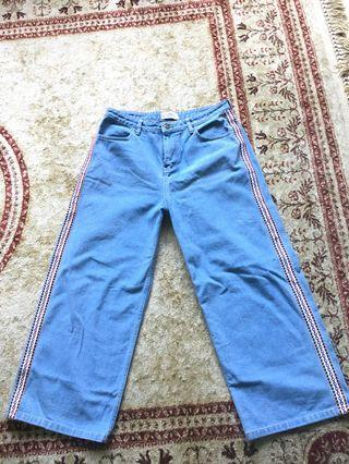 REPRICE cullote denim baby blue