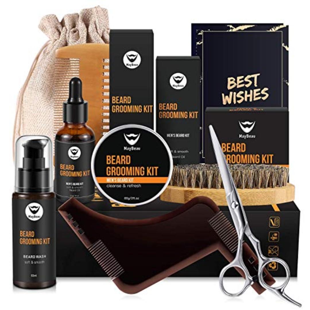 147 : MayBeau Beard Kit for Men Set of 8 Beard Growth