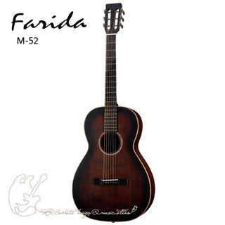 [免運可分期]Farida M-52 38吋全單板旅行吉他 高級紅杉單板 附原廠軟殼箱、PICK