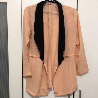 Preloved Twistcone Peach blazer outer cardigan