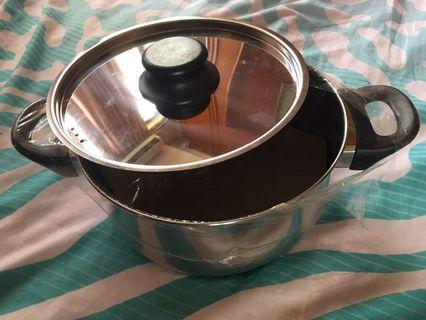 Stainless Steel Pot (flat base) 2L