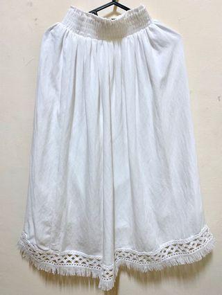 Pazzo波希米亞風白色長裙