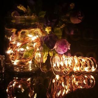 6 Meters 60 Led Battery Operated Copper Wire Fairy Light