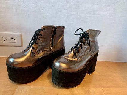 Vii&co 金屬厚底鞋 靴
