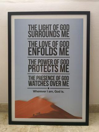 Christian posters, 24 x 34 inch
