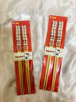 Kitty竹筷2雙入 三麗鷗授權商品