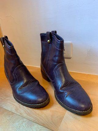 專櫃牌 Sonia 紫色西部靴 靴子