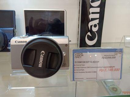 Cicil Canon EOS M100 Promo Gratis 1x Angsuran