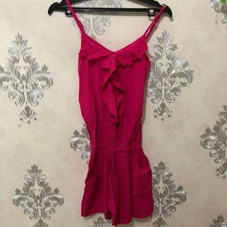 Jumpsuit / pink jumpsuit / jumpsuit pink / playsuit / baju pantai / dress bali / dress pantai / beachwear / summer dress / summer top / summer jumpsuit / #lalamovecarousell #hbdcarousell