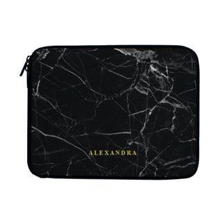 Black Marble Minimalist Laptop Case Sleeve Bag