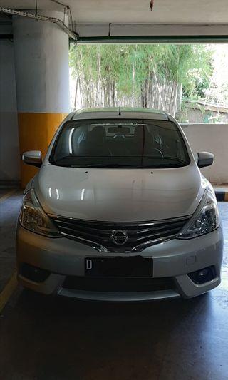 Nissan grand livina xv at 2013 silver bandung