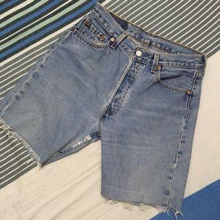 古著 Levi's 牛仔短褲 五分短褲 30腰