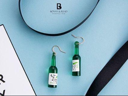 韓國造型耳環✨全新/啤酒/燒酒造型✨