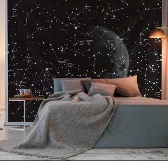 Galaxy Theme Tapestry Mat