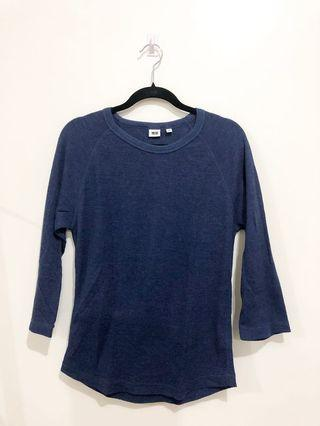 Uniqlo 3/4 T Shirt Knitted
