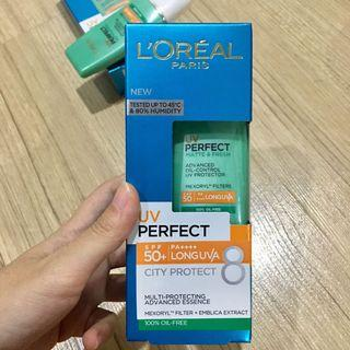 (new) L'Oreal UV Perfect SPF 50+ sunscreen