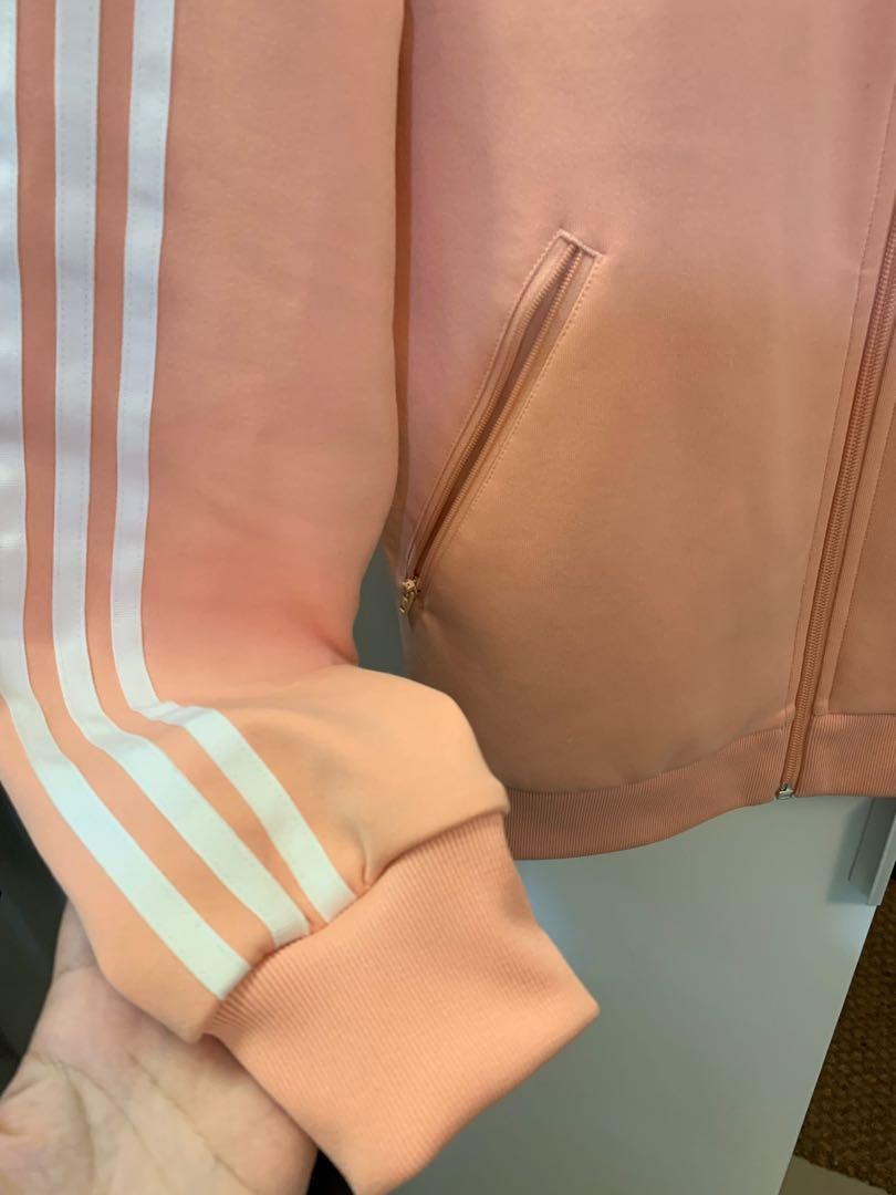 Adidas 愛迪達 三葉草 粉色 外套 XL