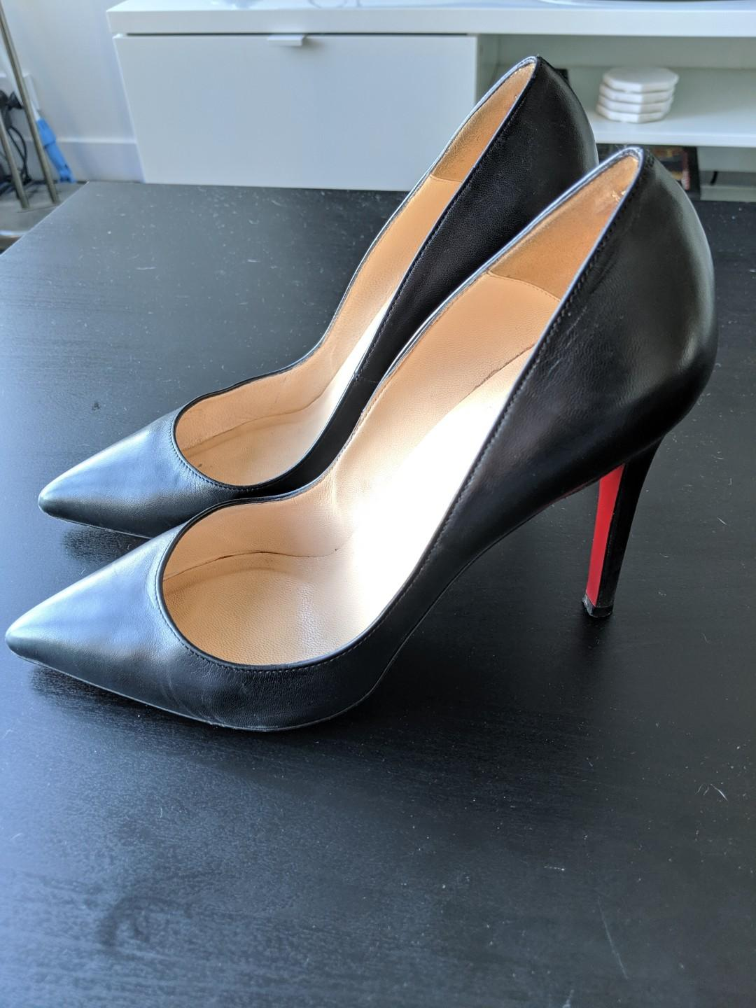 URGENT SALE NEEDED! AUTHENTIC Christian Louboutin Pigalle 100 Black Leather size 38 + dust bag