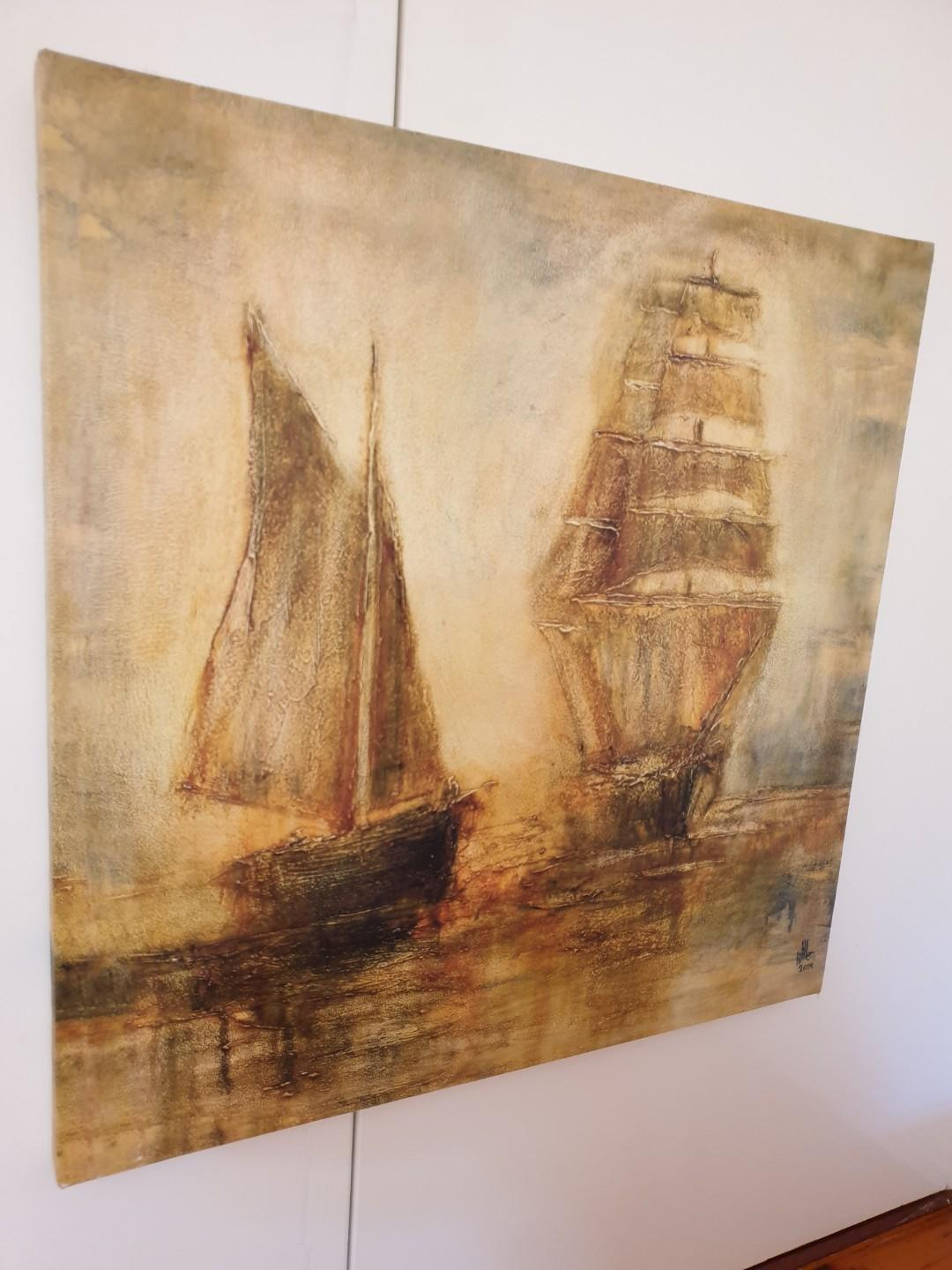 Boat Painting Canvas