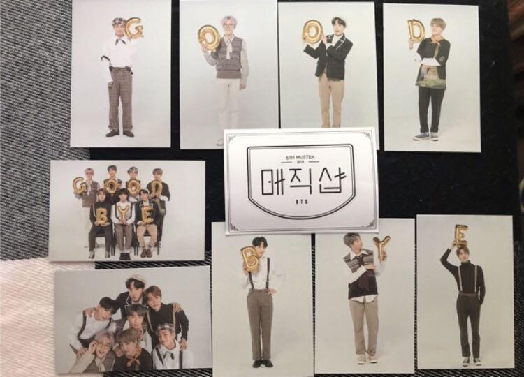 BTS 5th Muster Merch Photocard CU Again & Good bye