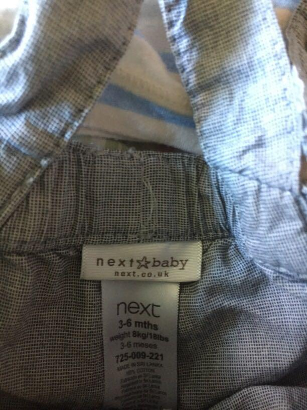 Designer baby boy summer outfit size 00 (3-6 months)