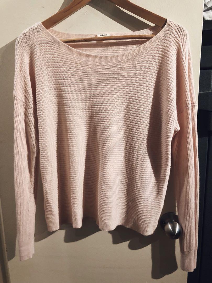 Garage pink pullover