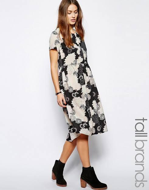 Glamorous Tall Glamorous Tall Oversized Floral Midi Smock Dress