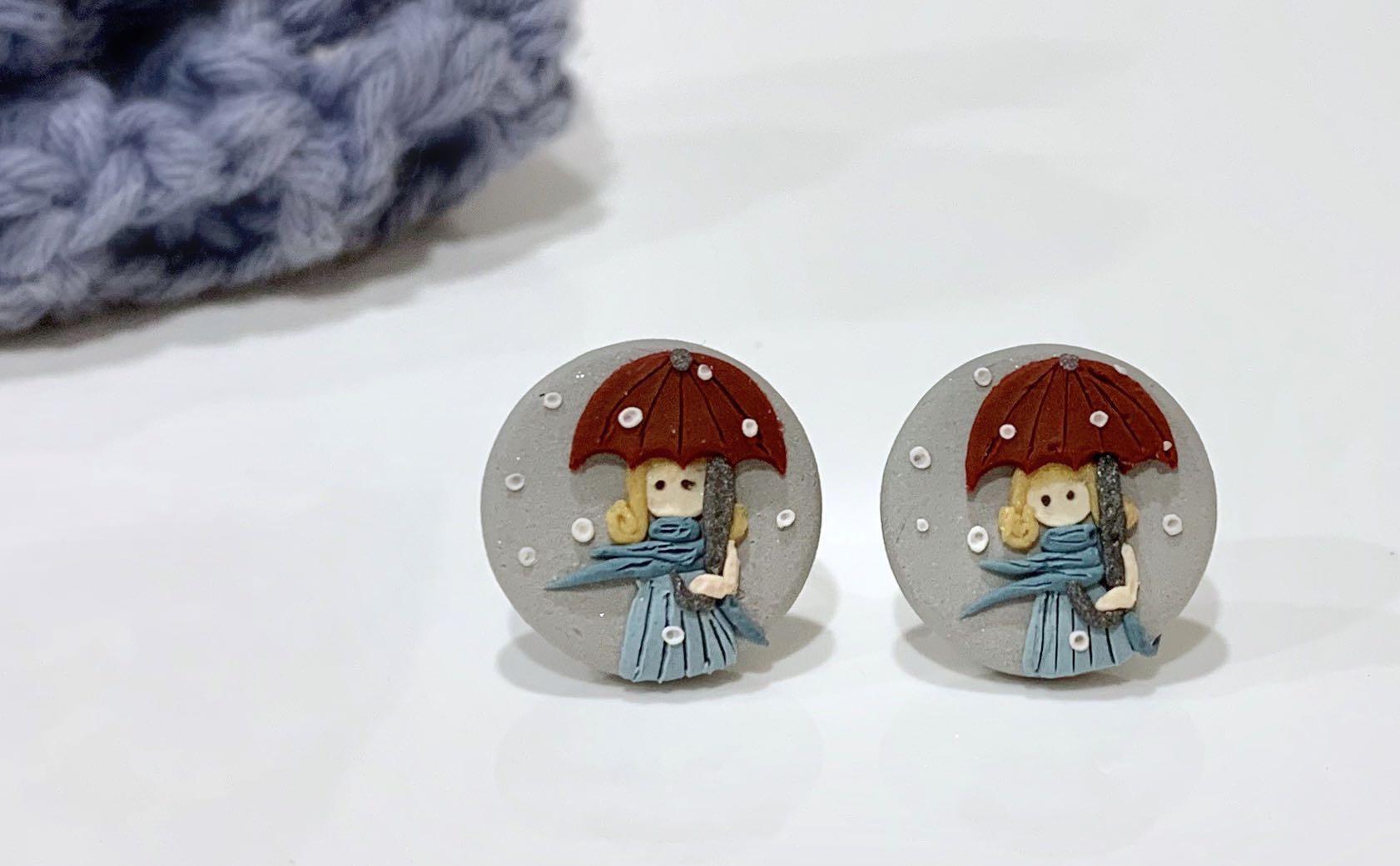 Handmade Polymer Clay Earrings - deLittle Girl series