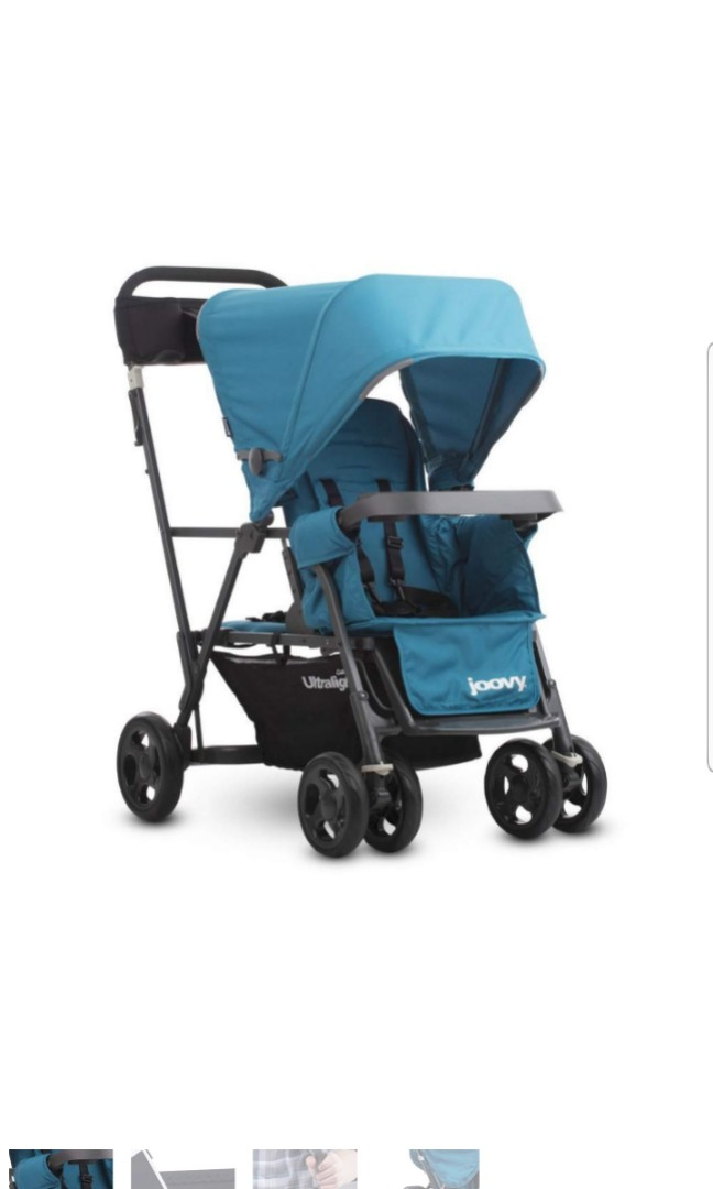Joovy Caboose Ultralight Graphite Stroller Turq