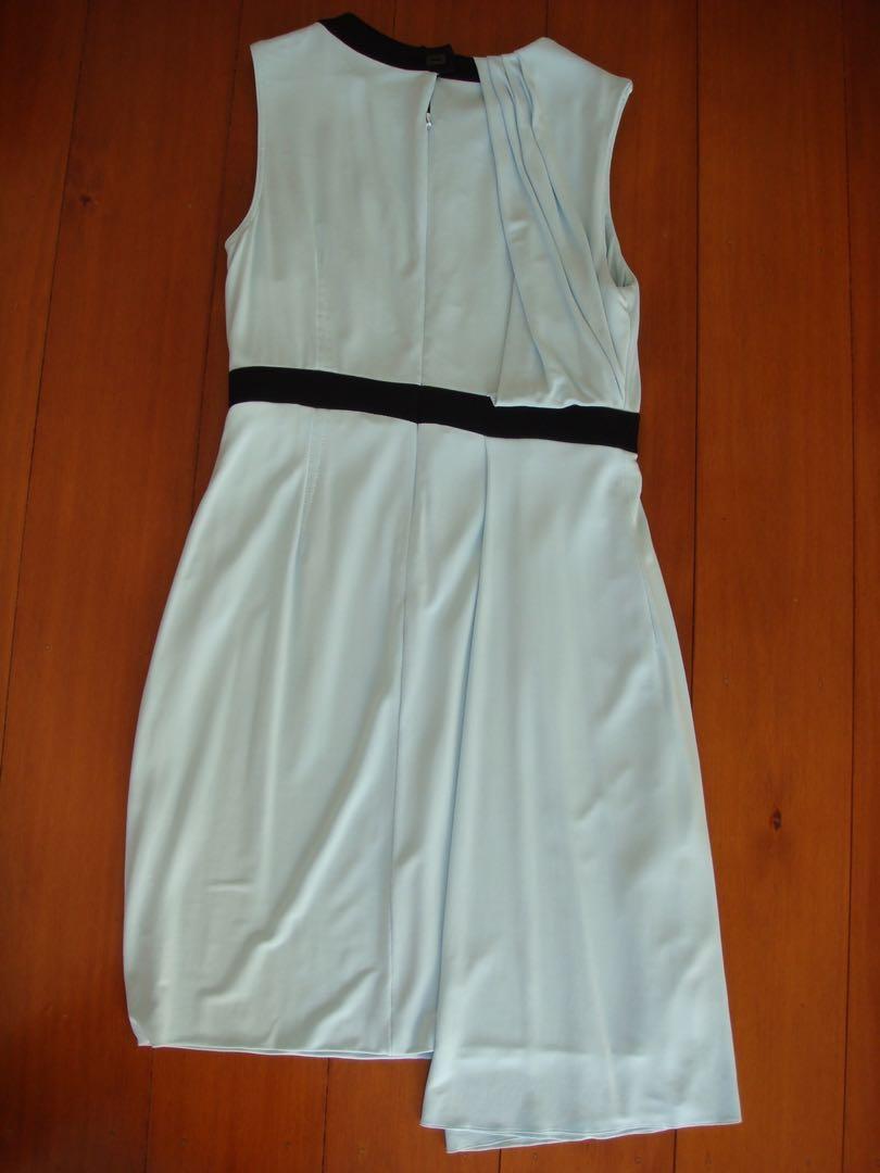 Karen Millen Grecian style ice blue dress Size UK14 Aus 12