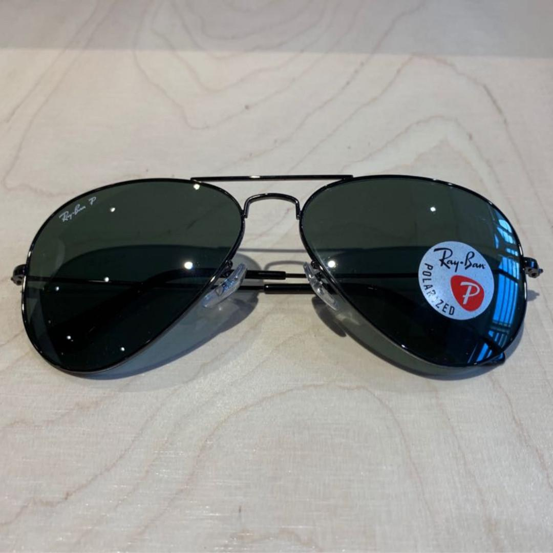 ray ban aviator polarised sunglasses