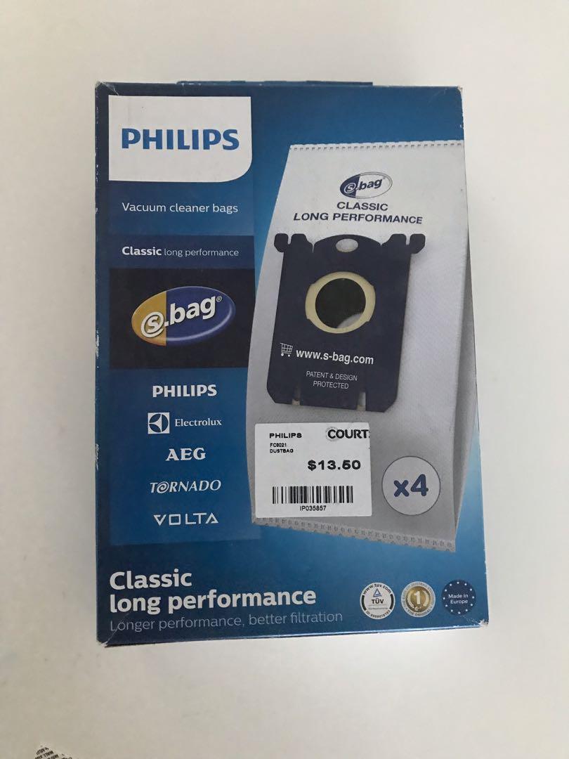 8   Org Staubbeutel Philips S-Bag  für Philips PowerLife FC8454//01