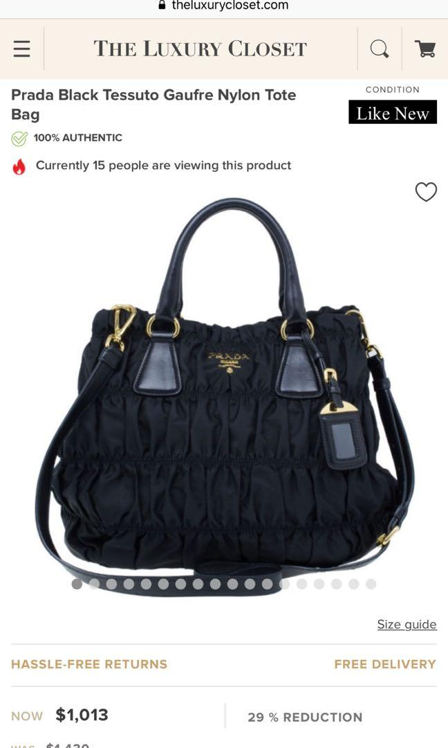PRADA Black Handbag / Tote Bag
