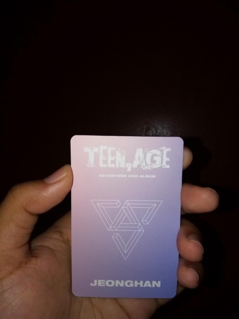 SEVENTEEN 2ND ALBUM TEEN,AGE [FULL SET JEONGHAN PC]