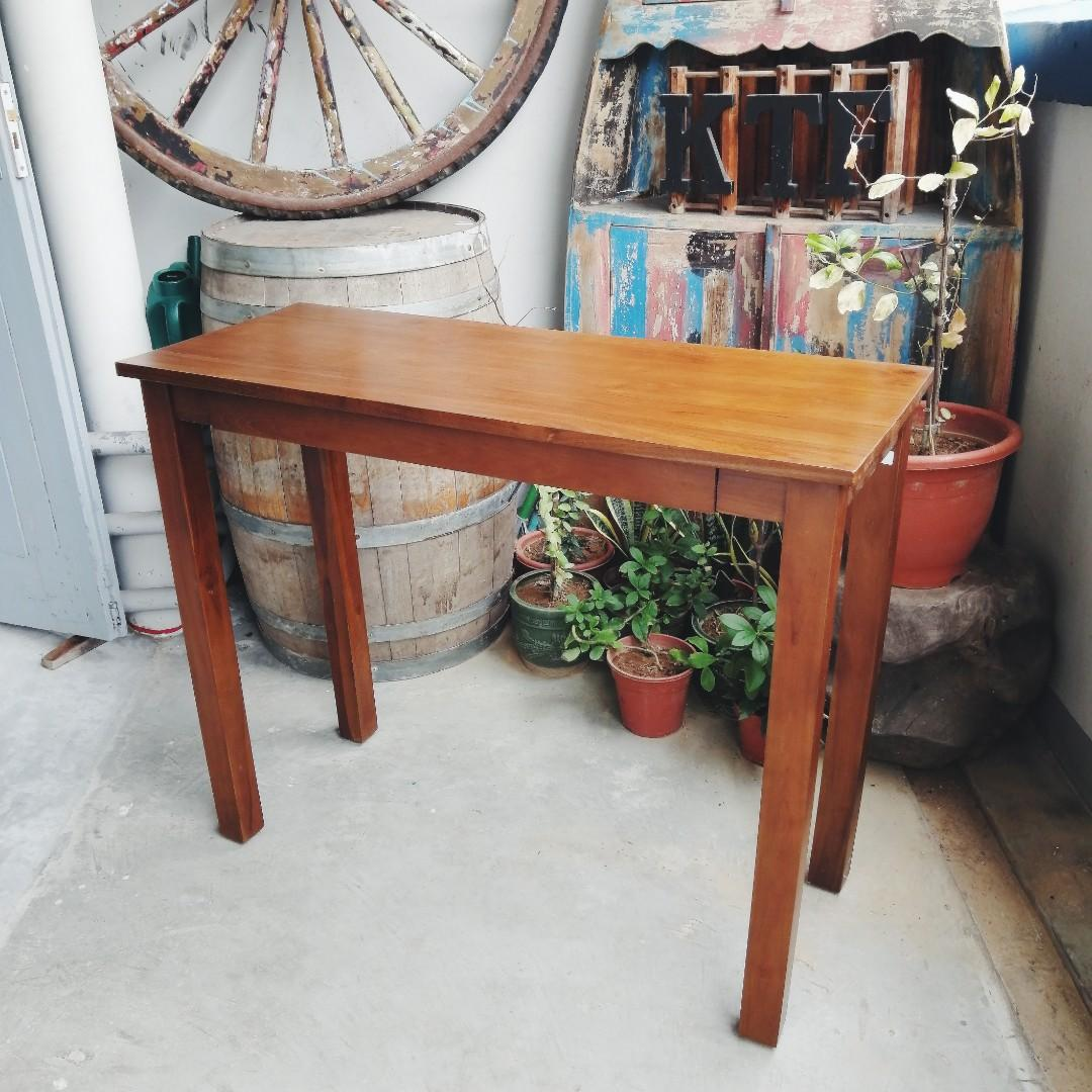 Picture of: Solid Teak Console Table 1 Drawer 4 Legs Furniture Tables Chairs On Carousell