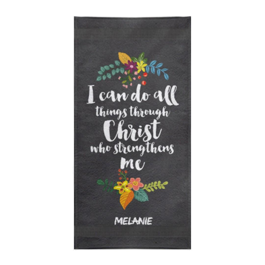 Sports Towel Christian Gifts Bible Verse