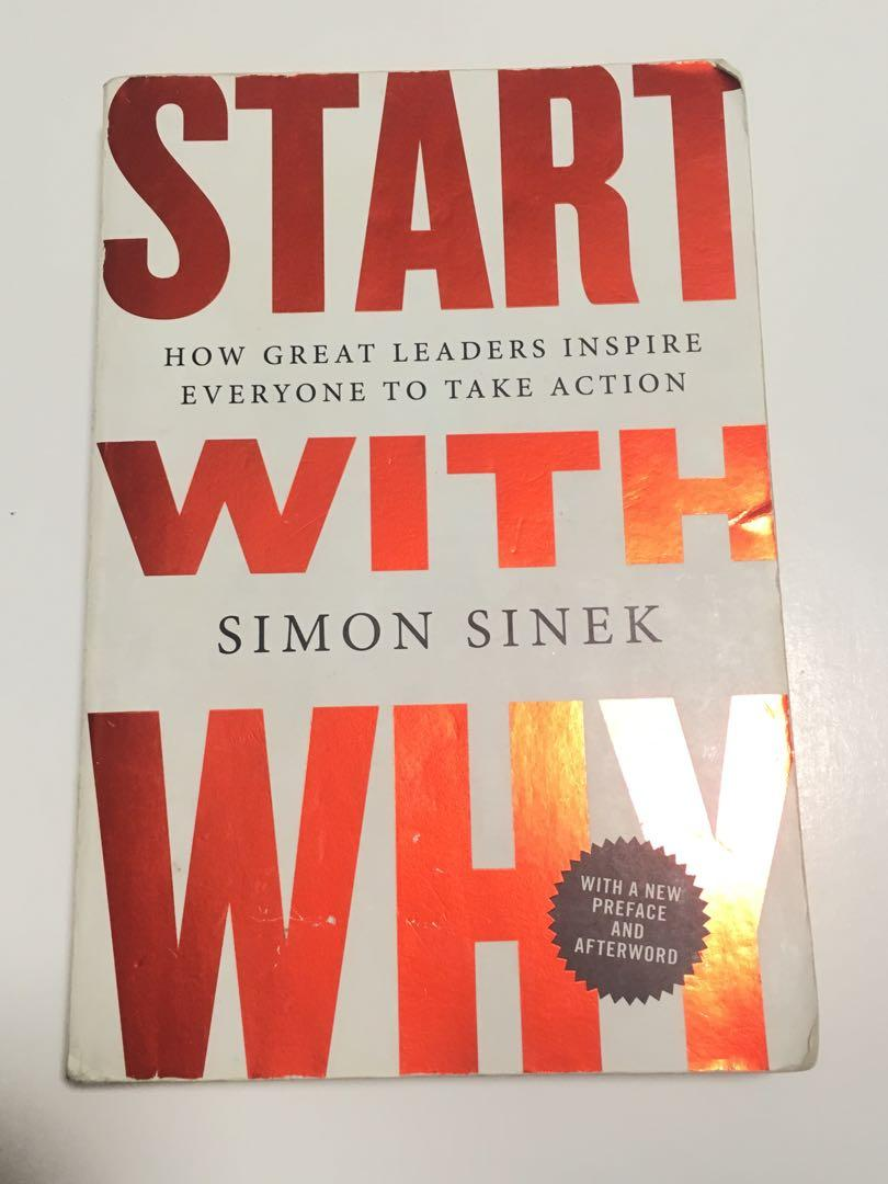 Start With Why by Simon Sinek great condition book