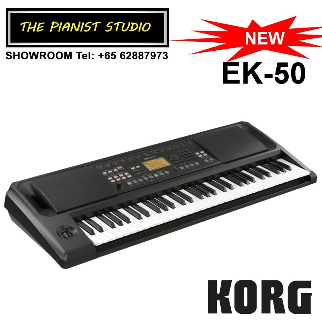 THE PIANIST STUDIO | Korg EK-50 61 Keys Entertainer Piano Keyboard Singapore Sale