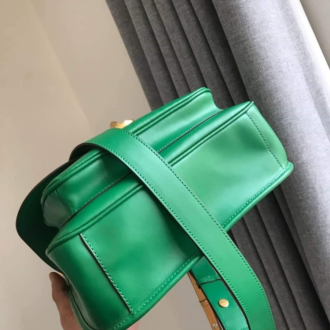 Tory Burch James Saddle Bag Green