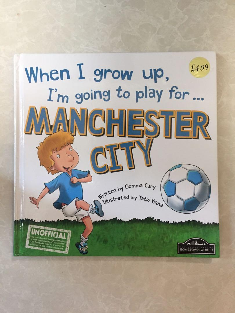 When I grow up, I'm going to play for... Manchester City