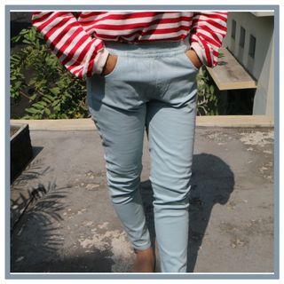 Blue pants thrift