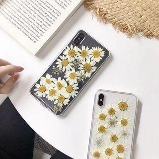 泫雅同款8plus/7p/6s/XR/XS Max真實小雛菊iPhone手機殼