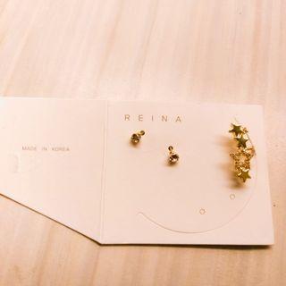 韓國整套耳環,包含耳骨夾